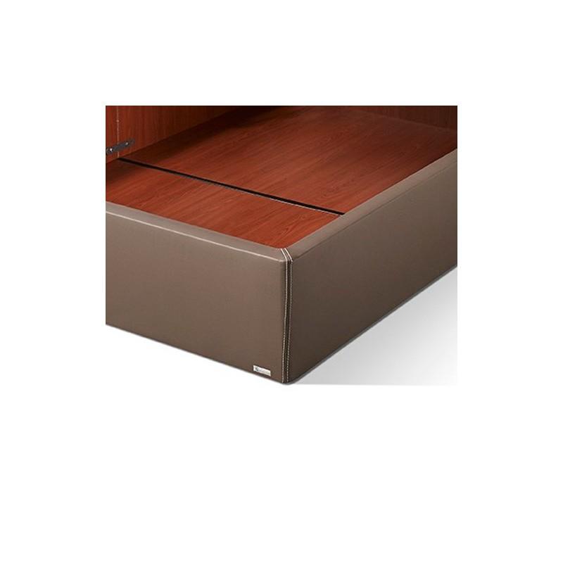 Canapé tapizado en Polipiel detalle esquina