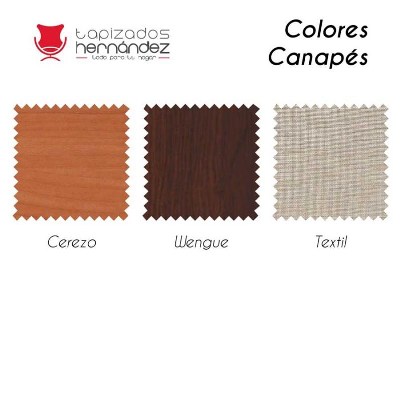 Colores canapé scarpa - Blanco - cerezo - wengué - textíl