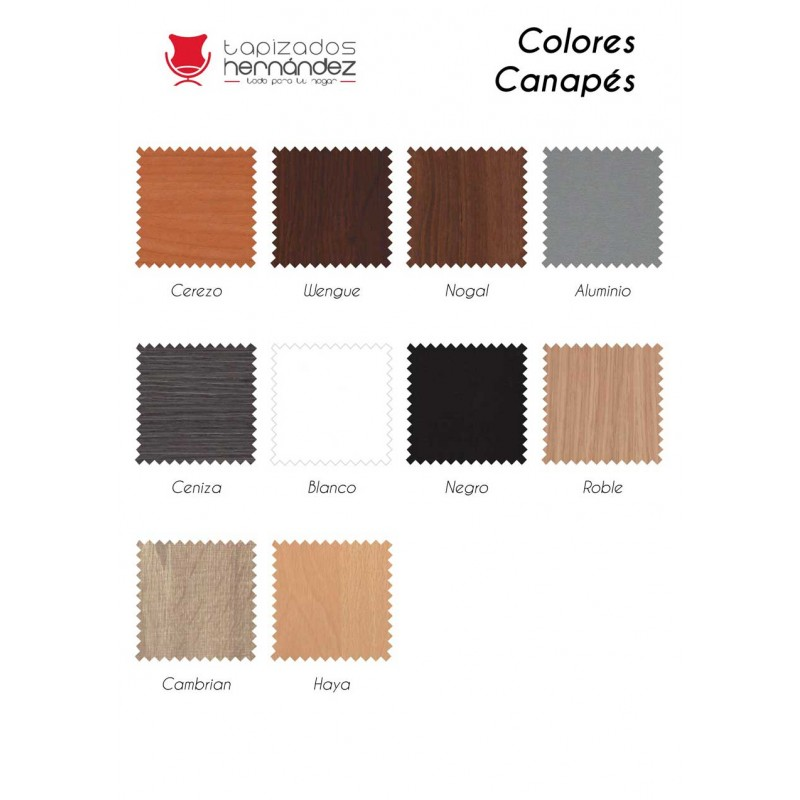 Colores de madera canapés