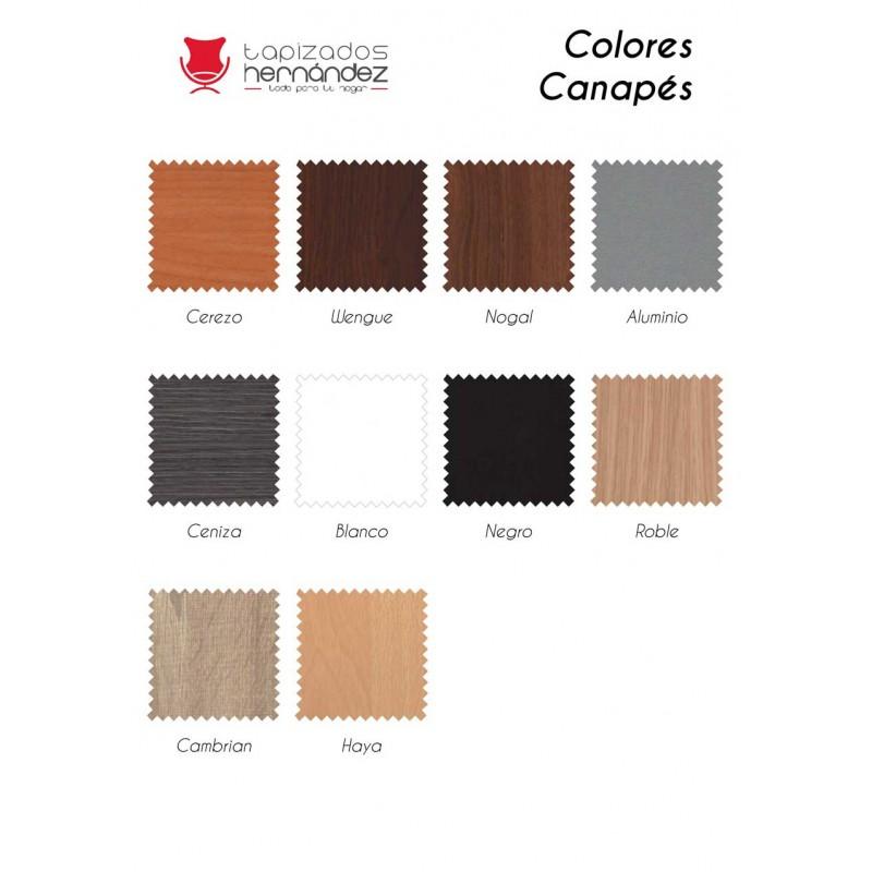 Colores canapés madera