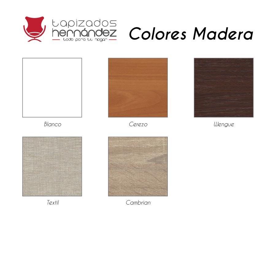 colores canapes madera