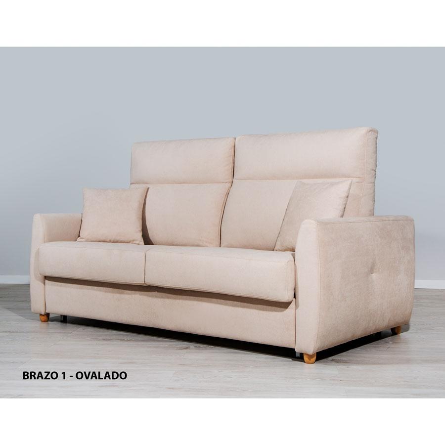 sofa cama Paula cama 140x190 brazo ovalado