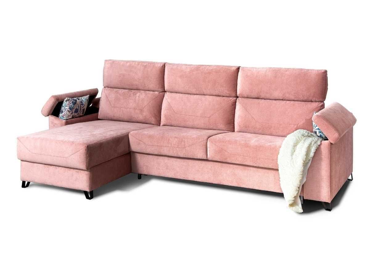 Sofa chaiselongue cama Jessica con arcones