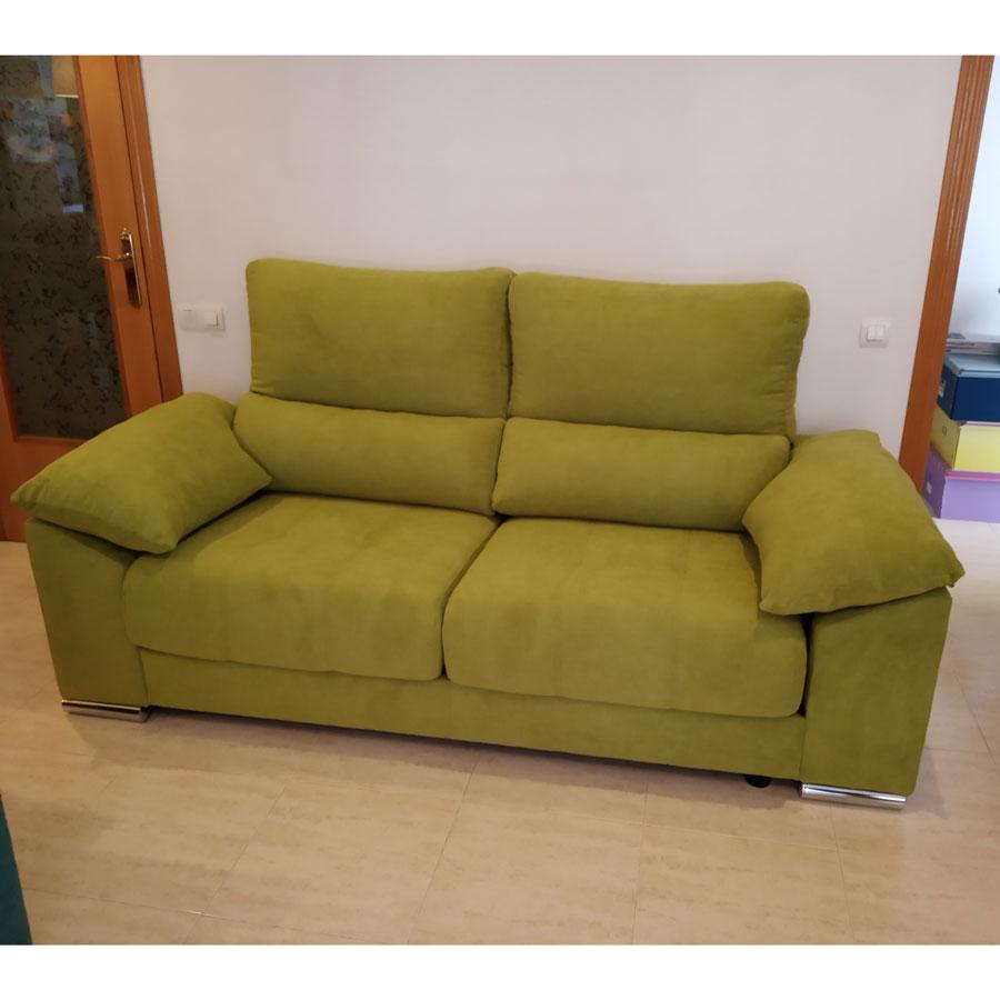 sofá milano color pistacho