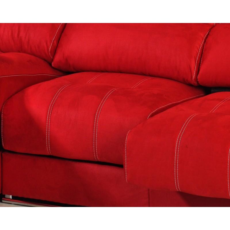 Sofá chaise longue Milano asientos comodidad deslizantes