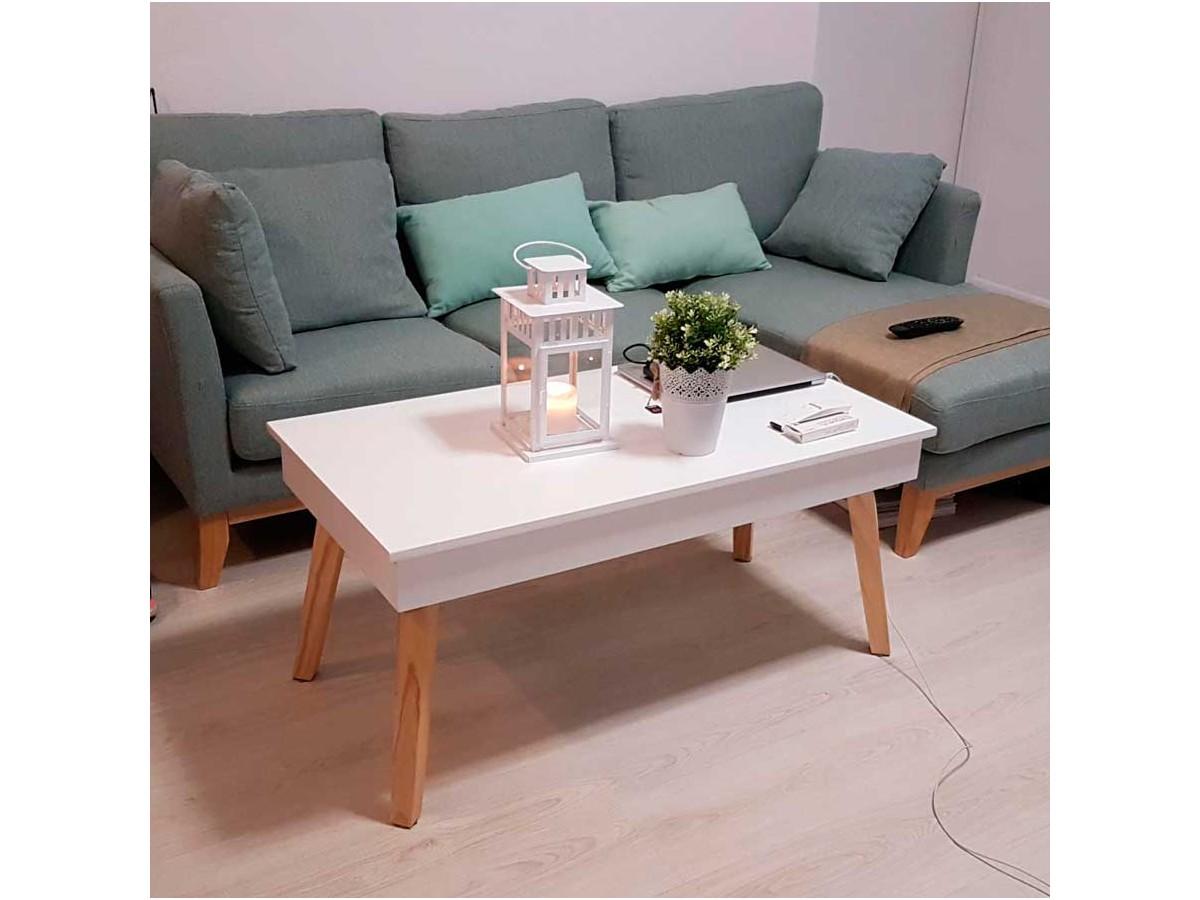 Mesa de centro elevable Sweden en cliente
