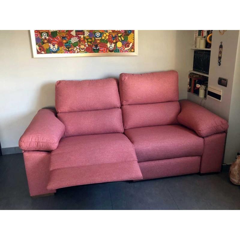 sofa 3 plazas Prada nexus rosita en cliente