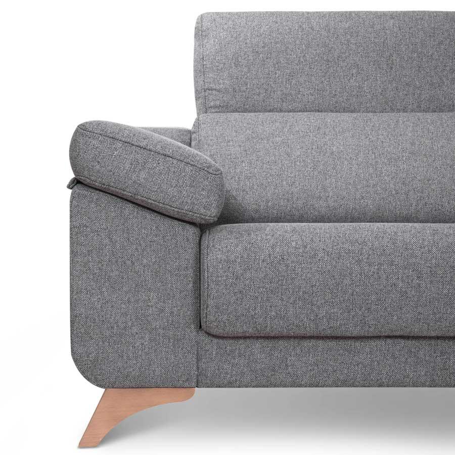 sofa de patas madera