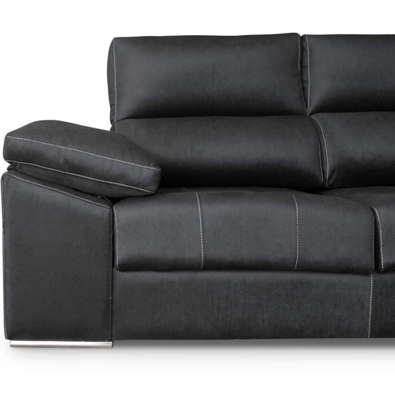 Sofá chaise longue con pouff Madrid