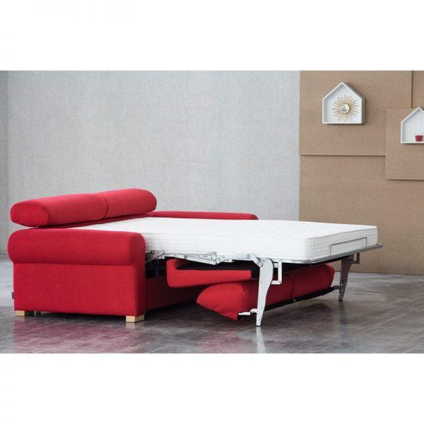 Sofá cama ELLA de apertura italiana brazo redondeado