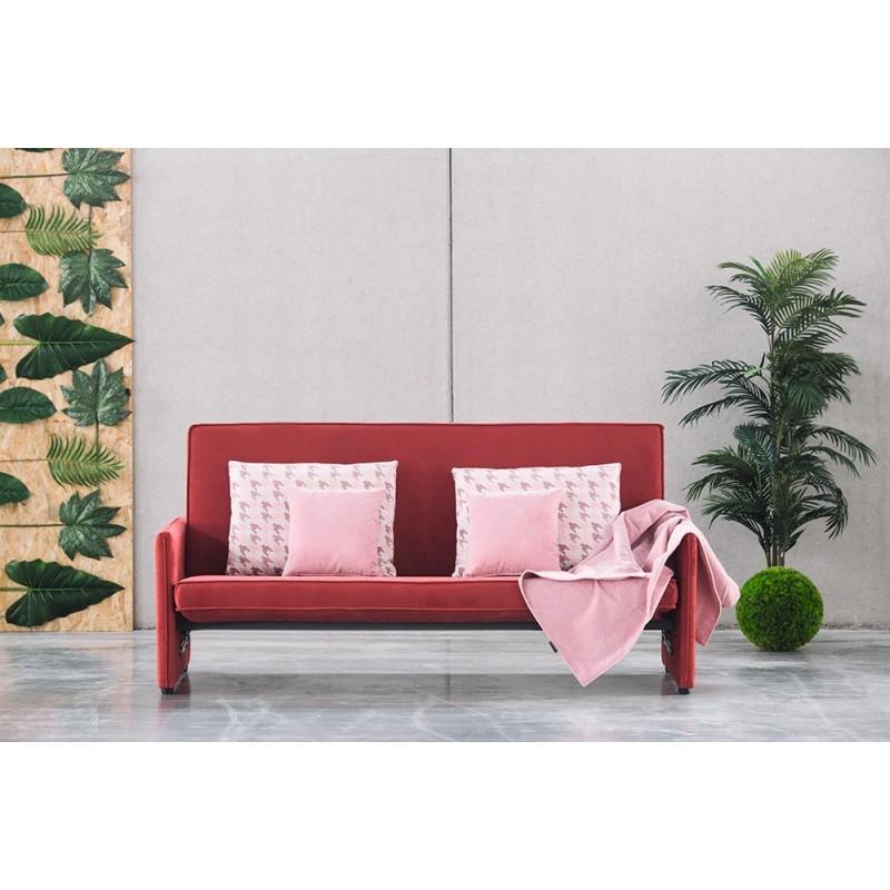 sofá cama clic clac Lisa tela savana colores suave y antimanchas
