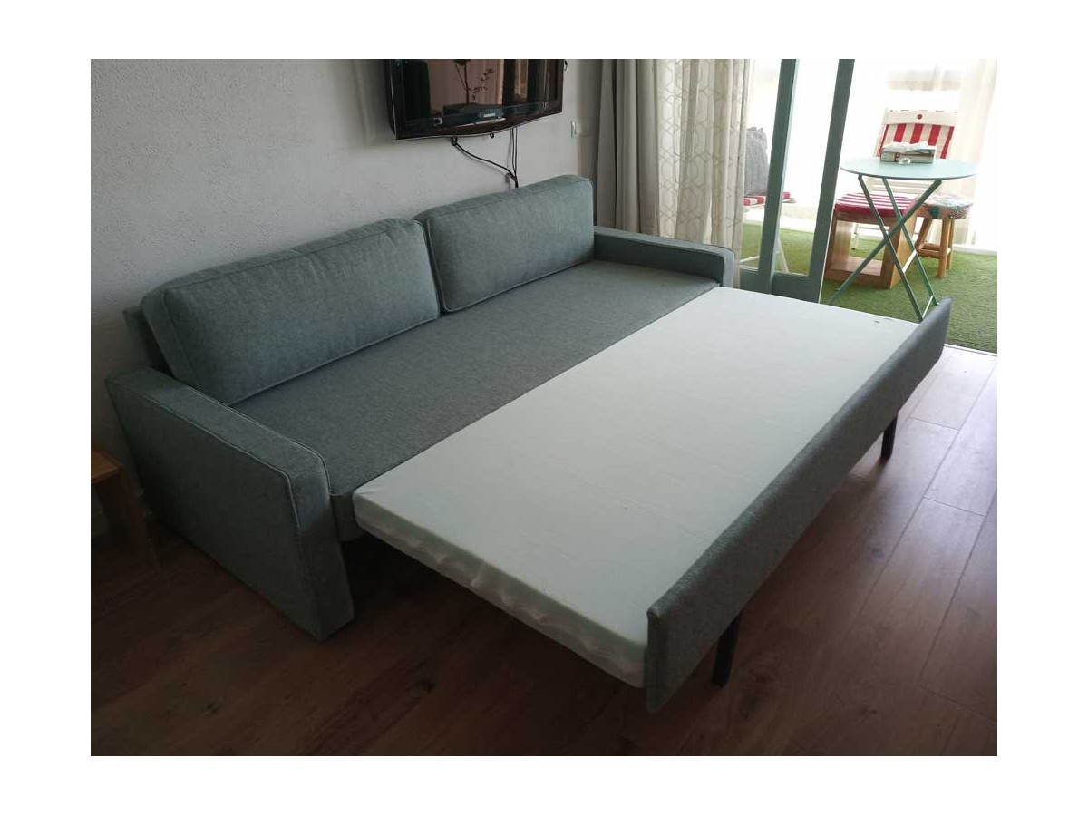 sofá cama Hugo tela chapi oceano en cliente