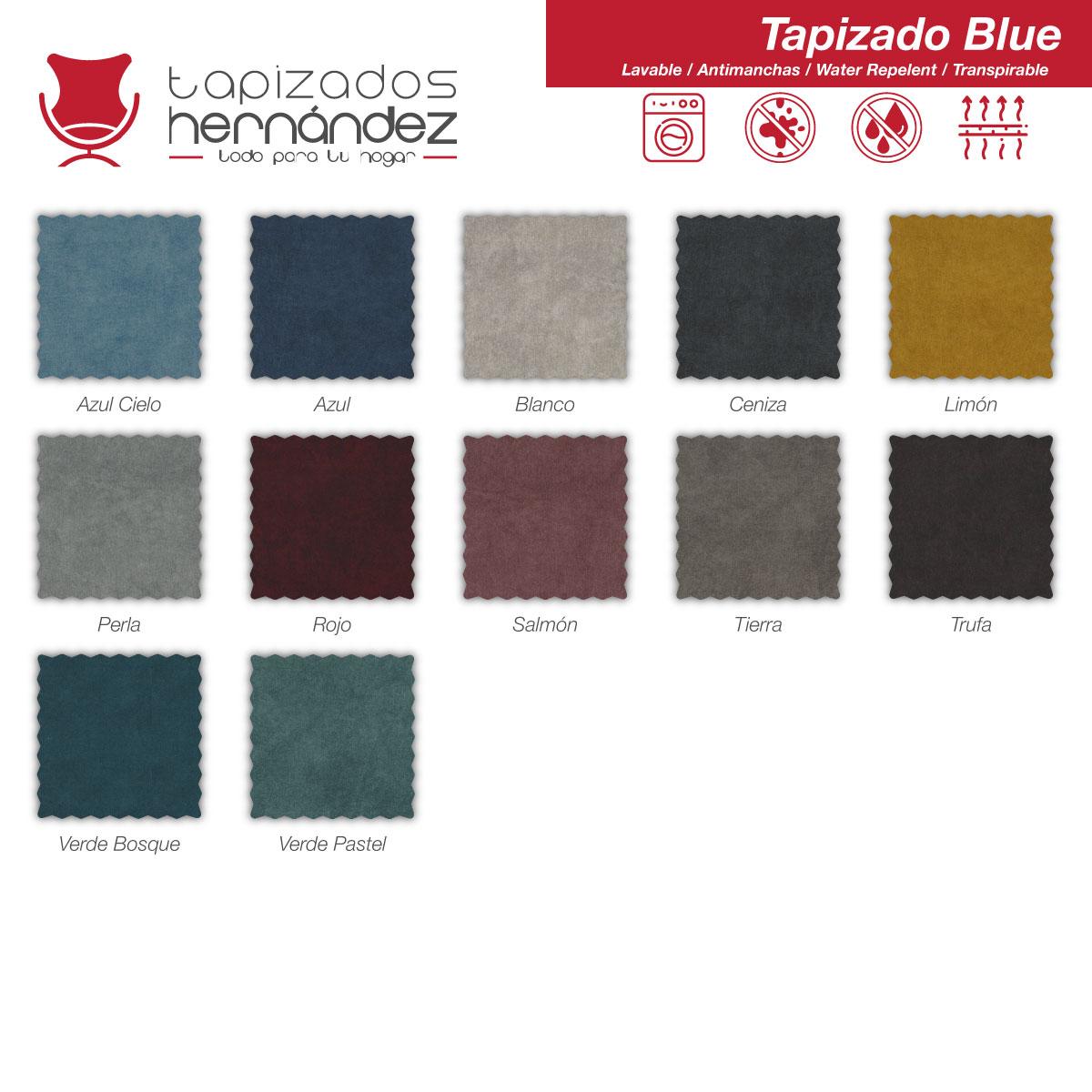 tapizado blue