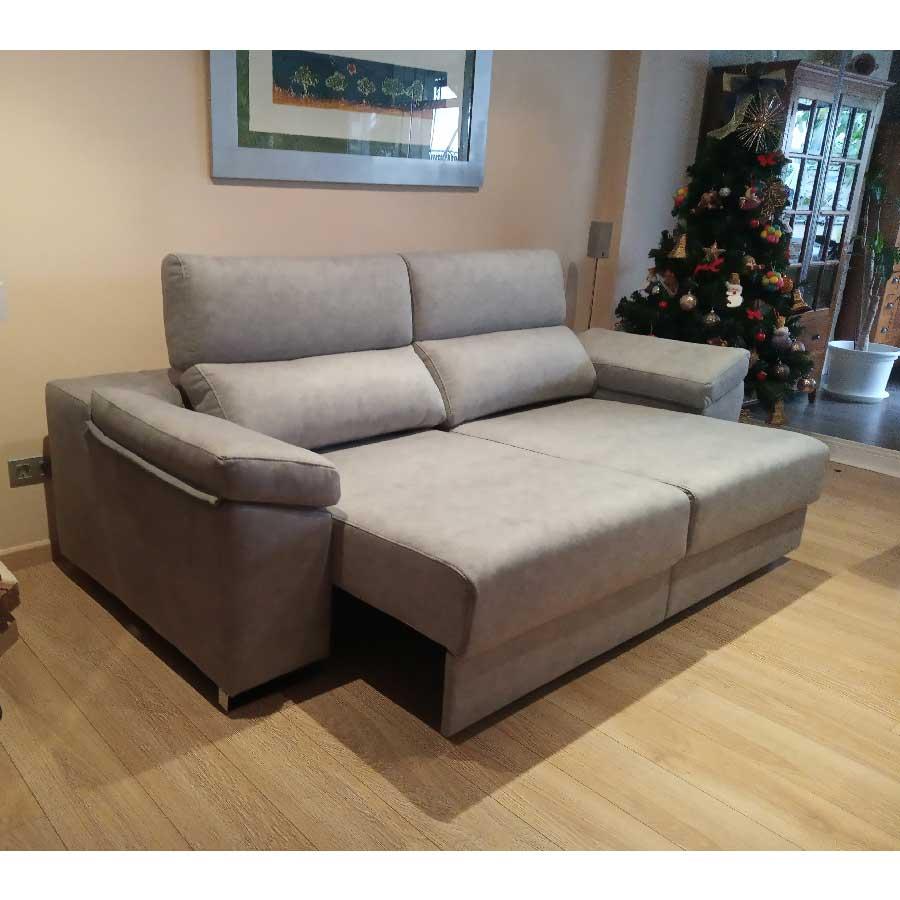 Entrega sofá natura cama gris perla