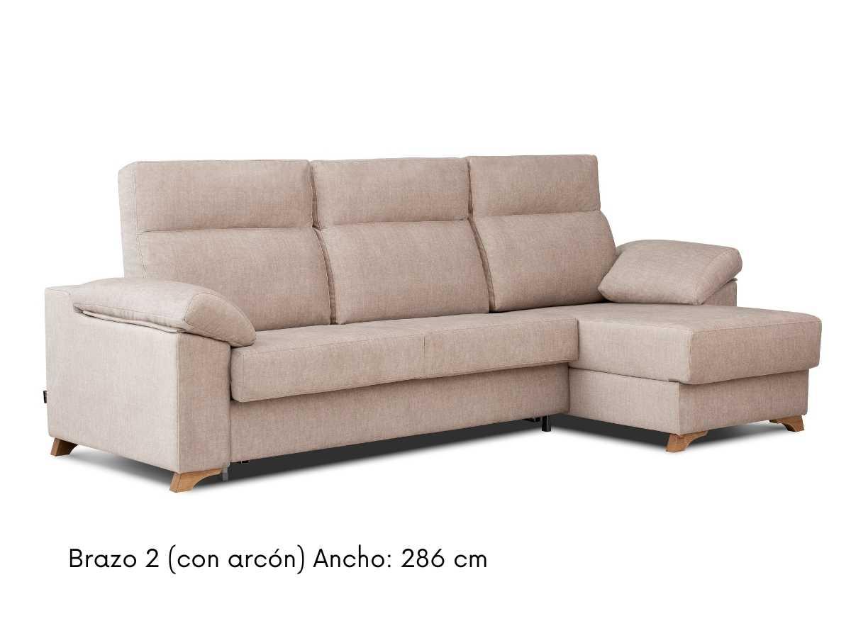 Sofa chaiselongue cama comodo Nora