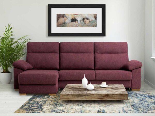 Sofa chaiselongue cama Paula en salon