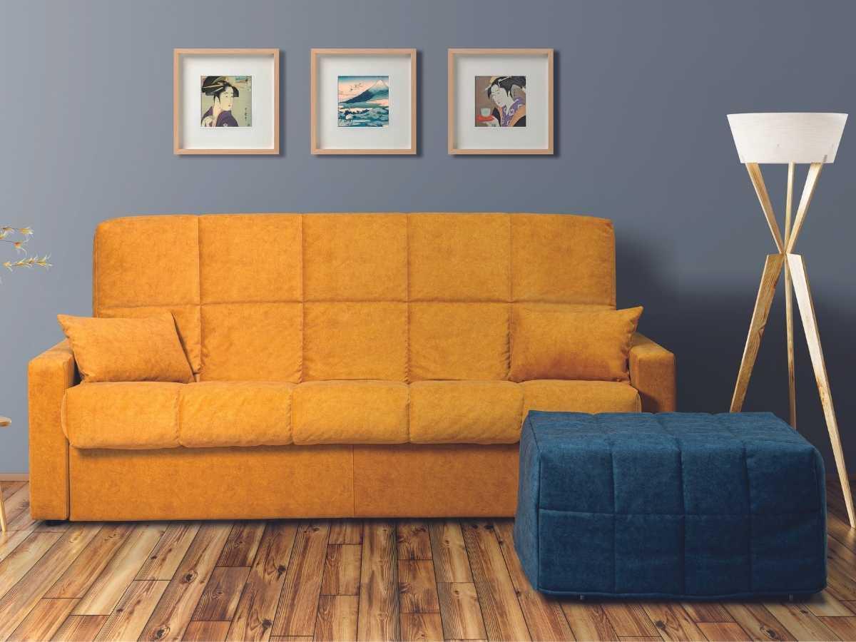 Sofa cama Nicol y puff cama Candela