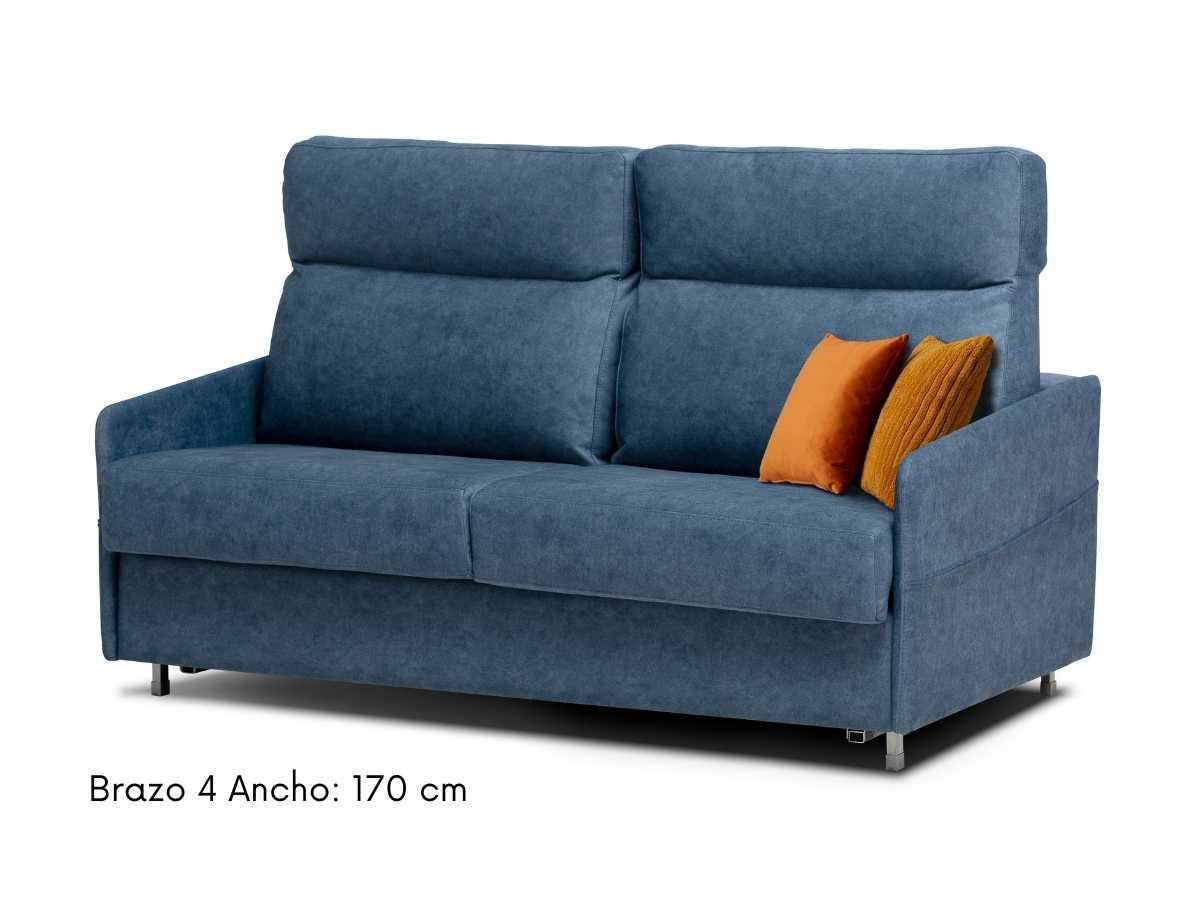 Sofa cama con brazos estrechos Nora