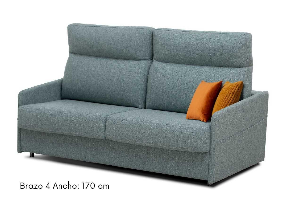 Sofa cama con brazos finos Paula