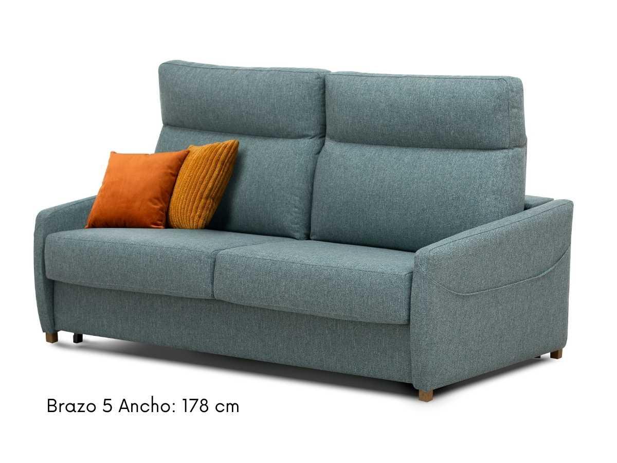 Sofa cama con brazos estrechos Paula