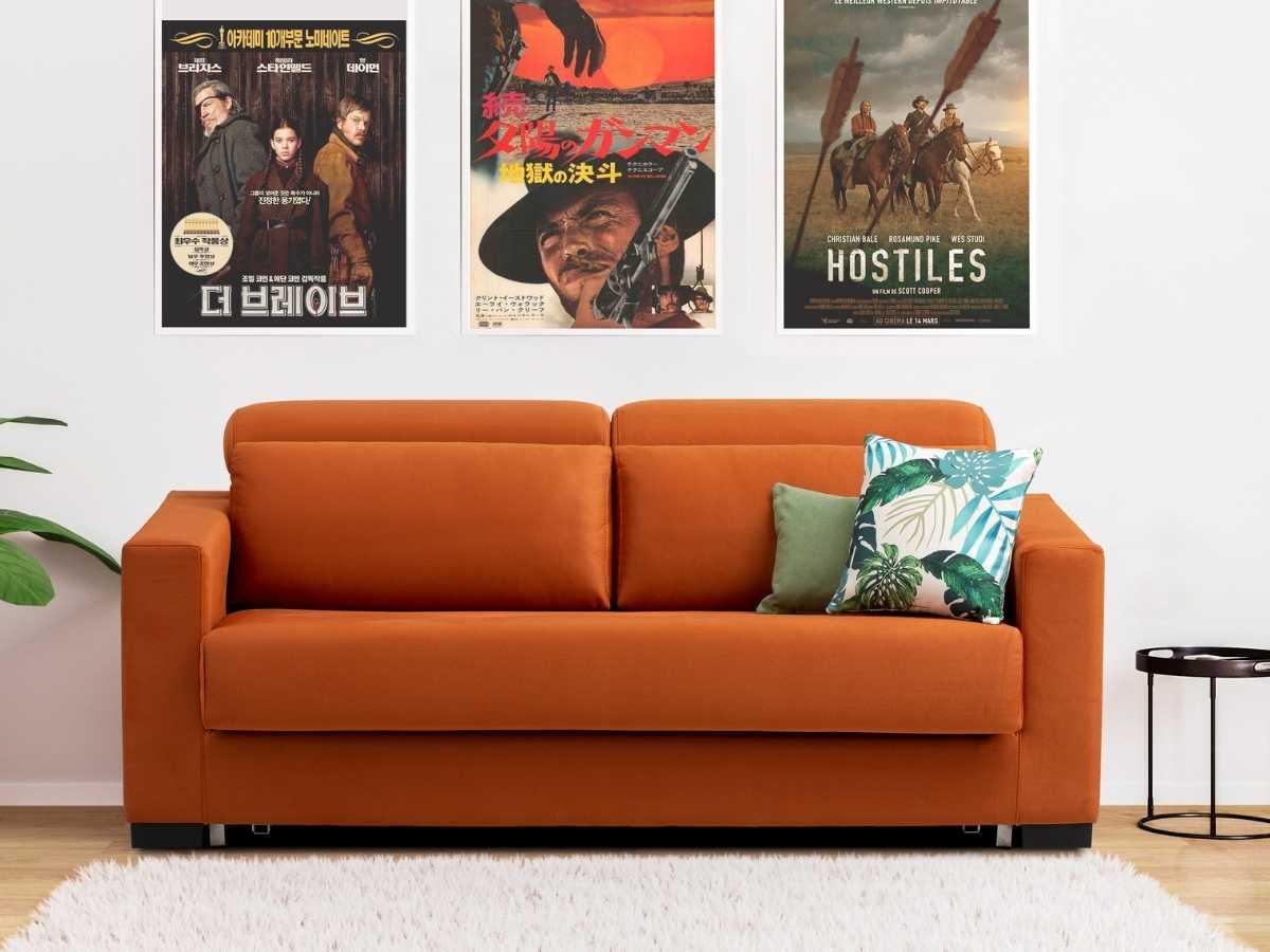 Sofa cama de apertura italiana Rosana en salon