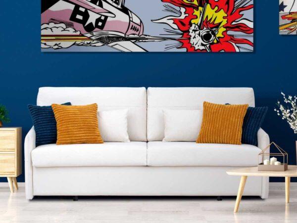 Sofa cama Valentina con decorado